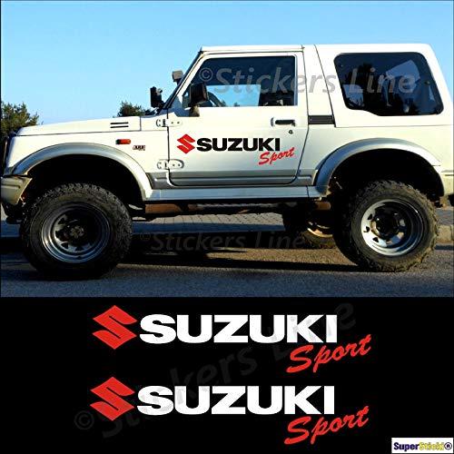 SUPERSTICKI Suzuki Sport Auto Aufkleber ca 40cm 2Stück Aufkleber Sticker Decal aus Hochleistungsfolie Aufkleber Autoaufkleber Tuningaufkleber Racingaufkleber Rennaufkleber Hochleistungsfol