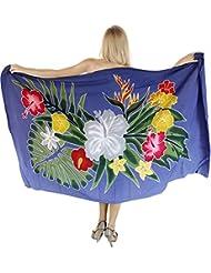 La Leela rayonne doux peint bikini floral caribbean couvrir pareo 78x43inch