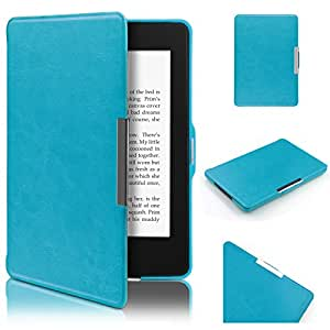 Kindle Paperwhite Hülle, Swees Ultra Slim Schutzhülle Smart Case für Amazon alle neue Kindle Paperwhite 2015 300 PPI 3.Generation/2014/2013/2012, mit Auto Sleep Wake Funktion, Blau