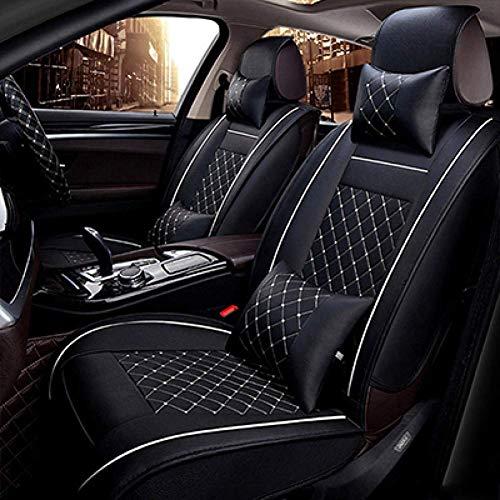 BJYG Coprisedile in Pelle Universale per Toyota Camry Corolla Yaris Auris Rav4 Wish Land Cruiser Fortuner Prius Crown Tutti i Mo