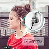Bluetooth In-Ear Sport Kopfhörer HAVIT V4.2 IPX5 Schweißresistent Stereo magnetischer Sport Ohrhörer mit 10 Stunden Spielzeit & 10 Meter Reichweite, eingebautes Mikrofon für iPhone, Huawei und Samsung (I39 ) - 517SrO5KzRL - Bluetooth In-Ear Sport Kopfhörer HAVIT V4.2 IPX5 Schweißresistent Stereo magnetischer Sport Ohrhörer mit 10 Stunden Spielzeit & 10 Meter Reichweite, eingebautes Mikrofon für iPhone, Huawei und Samsung (I39 )