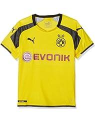 Puma BVB–Equipación infantil International Réplica Camiseta with Sponsor Logo, Cyber Yellow de Black, 152, 74983211