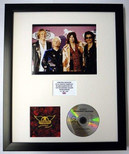 AEROSMITH/Darstellung mit Foto und CD   Limited Edition des Albums PERMANENT VACATION (Aerosmith Sammlerstücke)