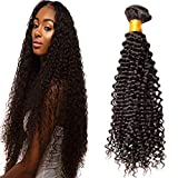 LaaVoo 50cm Bundle Hair Extensions Afro Curl Human Hair Remi Extension  Matassa Capelli Ricci Vero Brasiliano b17e81d65ede