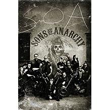 Póster Sons of Anarchy/Hijos de la Anarquía Vintage/Antaño (61cm x 91,5cm) + 2 marcos negros para póster con suspención