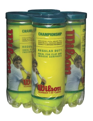 WILSON Championship Regular Duty Tennis Ball (4er Pack), gelb -