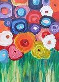 Blumenbild, Acryl,35/25cm