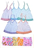 Sathiyas Baby Girls Dresses and Nappy (P...