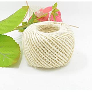 RICISUNG 50M Wrap Gift Hemp Rope Ribbon Twine Rope Cord String Ball(White)
