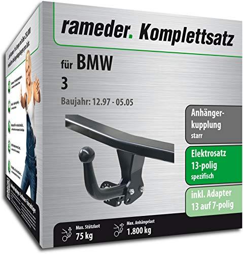 Rameder Komplettsatz, Anhängerkupplung starr + 13pol Elektrik für BMW 3 (113178-03397-3)