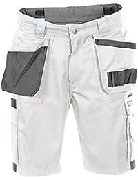 Dassy Short ROMA Weiss//Grau Arbeitsshort PESCO61 245 gr Arbeitshose kurze Hose