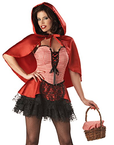 Naughty Red Riding Hood Elite Adult Costume Size (Kostüm Riding Cosplay Hood Red)