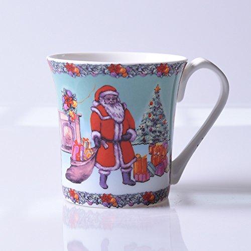 Geschenk Bone China Becher Milch cup britischen Designer Anzüge cartoon Keramik für Kinder Schale, Santa Claus Milch cup (Santa Anzug Für Kinder)