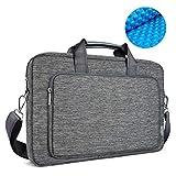 WIWU Laptop Tasche 17 zoll Umhängetasche Herren aus wasserfest Segeltuch mit Handgriff und Schultergurt Laptoptasche Zubehörfächer für MacBook Pro Notebook Herrentasche bis 17,3