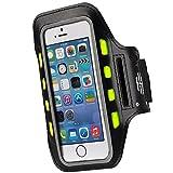 Hot Sky LED fascia da braccio per corsa o ciclismo. Regolabile, design confortevole, contiene smartphone, chiavi, carte di credito e denaro. Design unisex., Black