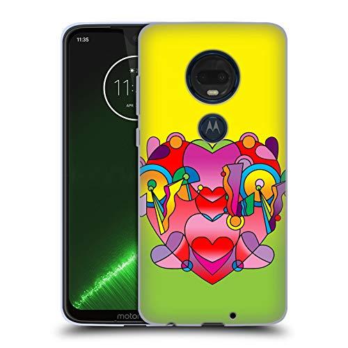Head Case Designs Offizielle Howie Green Liebe Farben Herzen Soft Gel Hülle für Motorola Moto G7 Plus
