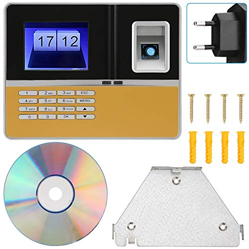 Usb Tcp-ip (Kafuty Fingerprint Password Attendance Machine mit 3,2-Zoll-LCD-Bildschirm, biometrische Erkennung, Mitarbeiterzeituhr, Verbindung über USB, TCP/IP, USB-Flash-Laufwerk, Unterstützung für(EU Plug))