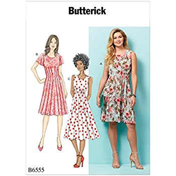 """DRESS AND NECKLACE   FOR 18/"""" DOLLS Butterick Pattern 6468 RUFFLED  APRONS"""