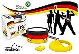 Brazil ComBinho Trommel Deutschland - Fanartikel Fussball Weltmeister Bundesliga Stadion - WM Brasilien – Trommel Rassel Ratsche Pfeife - Fasching Karneval Fastnacht
