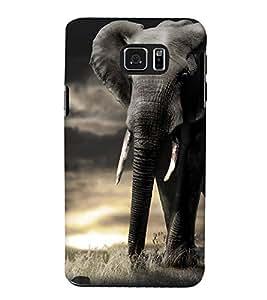 FUSON Big African Elephant 3D Hard Polycarbonate Designer Back Case Cover for Samsung Galaxy Note 5 :: Samsung Galaxy Note 5 N920G :: Samsung Galaxy Note5 N920T N920A N920I