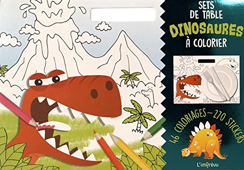 Sets de table Dinosaures à colorier : Avec 270 stickers