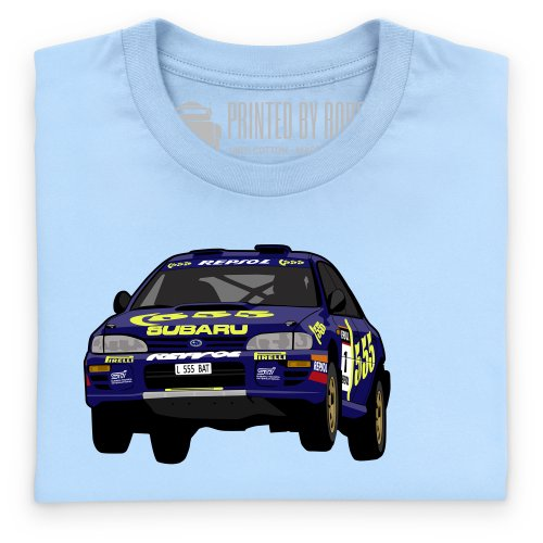 World Rally Championship Impreza Jump T-Shirt, Herren Blau Himmel