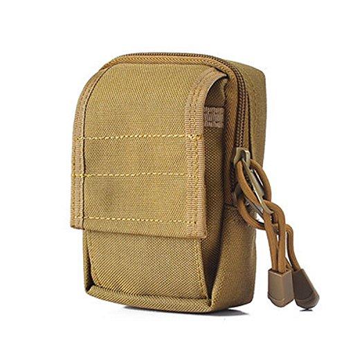 ZYT Im freien Pocket militärische Camo taktische Pocket Tasche Sport Pocket Münze Geldbörse wolf brown