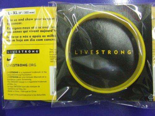 Original Livestrong Armband incl. $1 Krebshilfe Nike ADULT / - Silikon-armband-nike