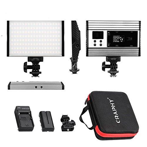Luz LED Panel Regulable de Video Cámara, CARPHY Antorcha Led Video para Iluminación,3200K a 5600K Temperatura de Color Ajustable, en Estudio o en Exteriores Fotografia, Ultra Delgado