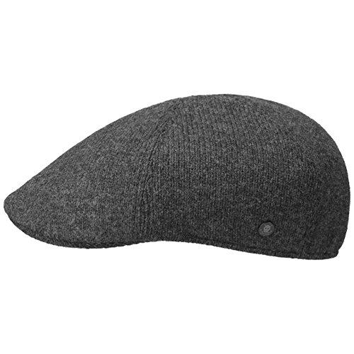 Stetson Texas Wool Uni Gatsby Cap Schirmmütze Flatcap Wollcap Schiebermütze  Schiebermütze Wintercap mit Schirm, Futter, Futter Herbst-Winter   M (56-57 cm) anthrazit -