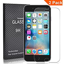 [2 Unidades] iphone6s Protector Cristal Templado, Outera Protector Pantalla [3D Touch Compatibles] Protector Cristal Vidrio Templado para iPhone 6s y iPhone 6 4.7