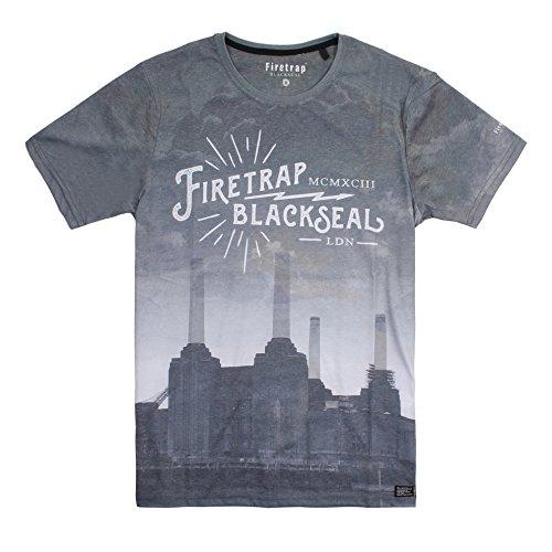 Firetrap Herren T-Shirt Gr. M, Schwarz (Black)