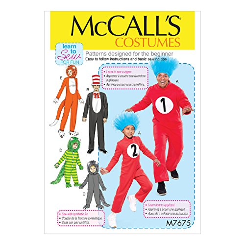 McCall's Patterns M7675ADT Schnittmuster verschiedene Jumpsuit Familie Halloween Kostüm Nähmuster Größen 3-8
