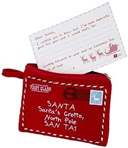 Talking Table - Kit letterina di Babbo Natale e portamonete con motivo: Waiting for Santa, colore: Bianco