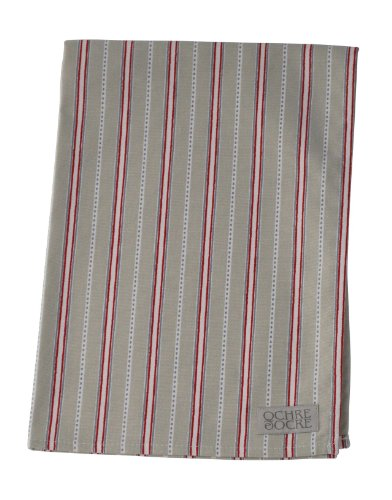Malvern 70cm Organic Cotton Tea Towel Colour: Grey and Red