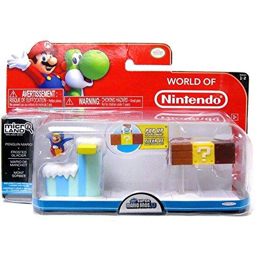 Preisvergleich Produktbild Micro Figure Super Mario Bros Wii U Playset - Frosted Glacier aus Mario Penguin
