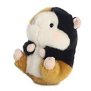 Aurora World Sprite Guinea Pig Rolly Pets-Peluche (Marrón/Negro/Blanco/Rosa)