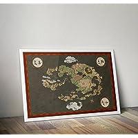 Avatar der letzte Airbender Poster - Avatar der letzte Airbender Map - Alternative TV / Filmdrucke in verschiedenen Größen (Frame nicht im Lieferumfang enthalten)