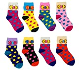 #7: ESELPRO BABY BOYS GIRLS COTTON ANKLE LENGTH SOCKS 12-24 MONTHS (Set of 8 pairs) ASSORTED DESIGNS