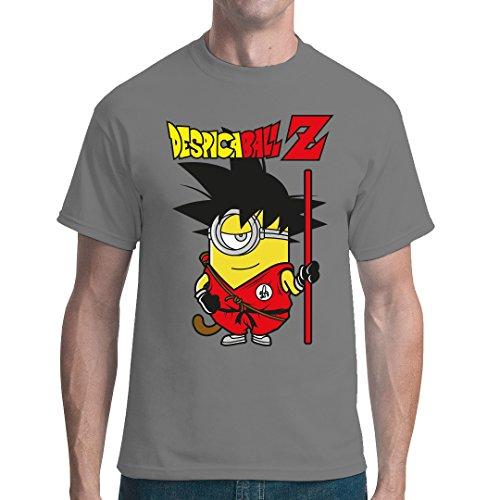 Fun Sprüche unisex T-Shirt – Despicaball Z – Minion-Goku by Im-Shirt – Grau XL