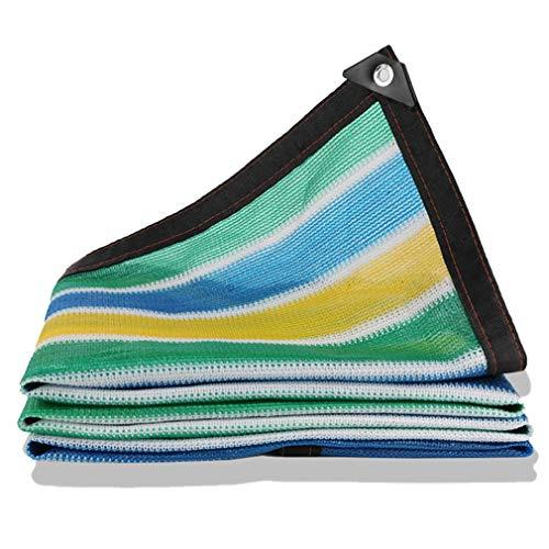 CUUYQ Sunblock Shade Net Cloth, Rechteck Schattierungsnetz Sonnensegel mit ÖSen Sonnenschutz Segel Tuch füR Terrassen Sunblock Schatten Segel Sommerabdeckung,Stripe_6x7m/18x21ft