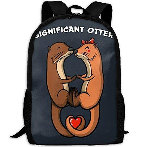 Otter-laptop-tasche (fsfsdafsaBags Significant Otter - Valentin. 3D Print Sac à DOS de Voyage College School Laptop Bag Daypack Travel Shoulder Bag for Unisex)