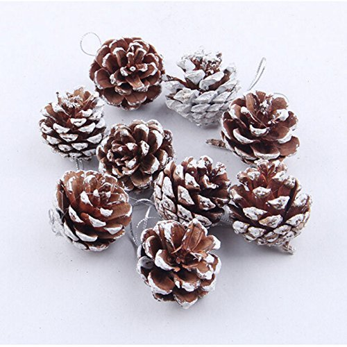 Mcitymall77 Velishy(TM) 9X Christmas Pine Cones Baubles Xmas Tree Decoration