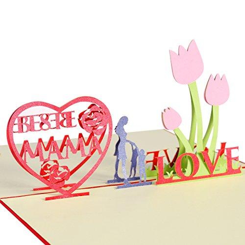 ROSENICE Grußkarten Geburtstagskarte für Mama Pop Up Karte