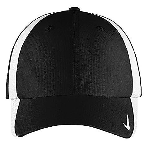 Authentique Nike Sphere Dry rapide Swoosh Profil bas réglable brodé Cap - Black WHITE