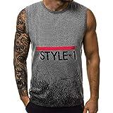 FNKDOR Hommes sans Manches Débardeur Muscle Workout T-Shirt Bodybuilding Tank Top Musculation de Fitness pour Les (Gris,FR-54/CN-L)