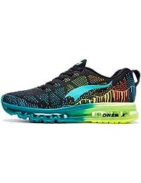 reputable site e1bda 52707 ONEMIX Running Chaussure Hommes 3D Knit Air Max Flyknit Léger pour La  Marche Gym Fitness Jogging