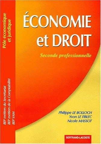 Economie et droit: seconde professionnelle