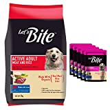 #5: Let's Bite Active Adult Meat and Rice Dog Food, 3 kg with Free 5 Let's Bite Gravy Pouches.