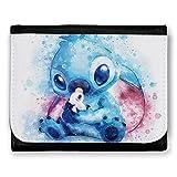 Porte feuille Aquarelle Stitch pastel, chibi et kawaii - Chamalow shop